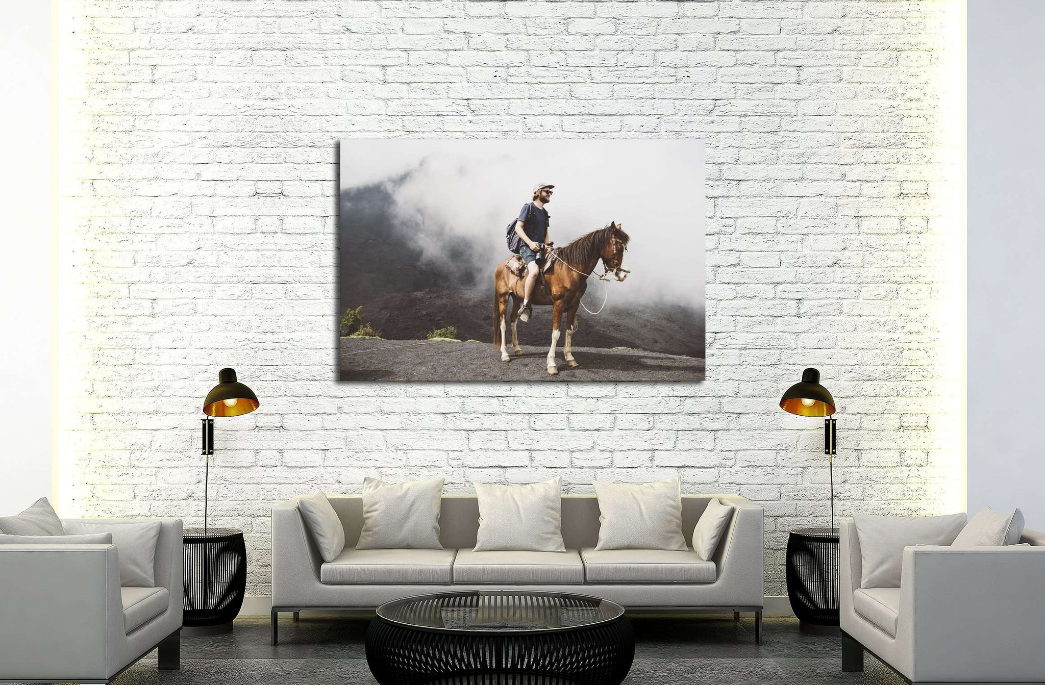 Man on horse canvas print №5019