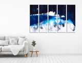 Star Sky In The Mountains №04269 Ready to Hang Canvas Print