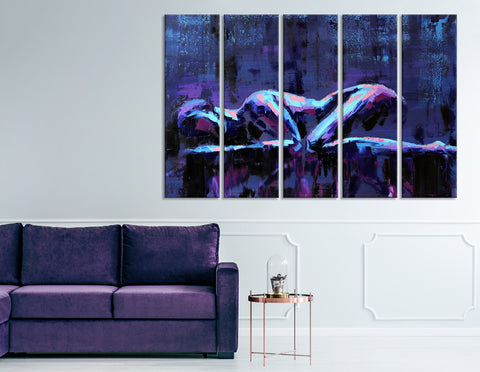 Lying Girls Abstract №04400 Ready to Hang Canvas Print