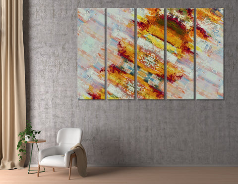 Orange Shabby Modish Abstract №04406 Ready to Hang Canvas Print