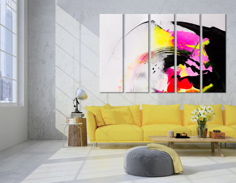 Colorful Abstract №04391 Ready to Hang Canvas Print