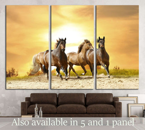 Beautiful horses wall art №5012