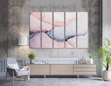 Light Pink And Purple Abstract №04353 Ready to Hang Canvas Print