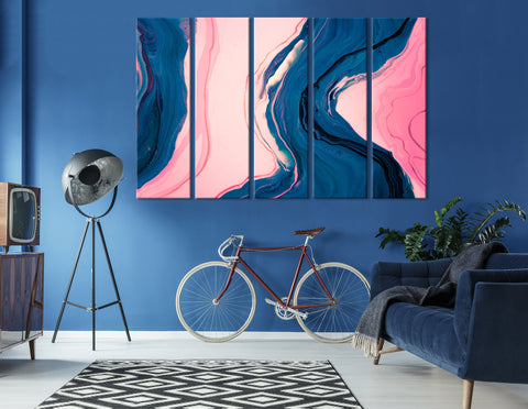 Blue And Pink Abstract №04348 Ready to Hang Canvas Print
