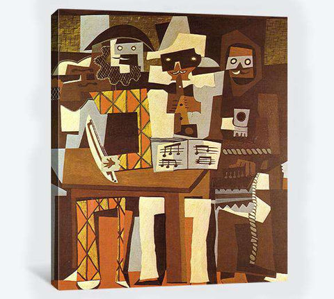 Pablo Picasso, Three Musicians - Canvas print