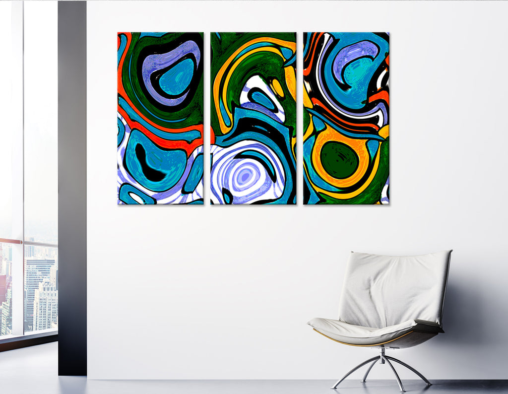 Bright Abstract №04325 Ready to Hang Canvas Print
