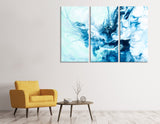 Sea Splatter Abstract №04423 Ready to Hang Canvas Print