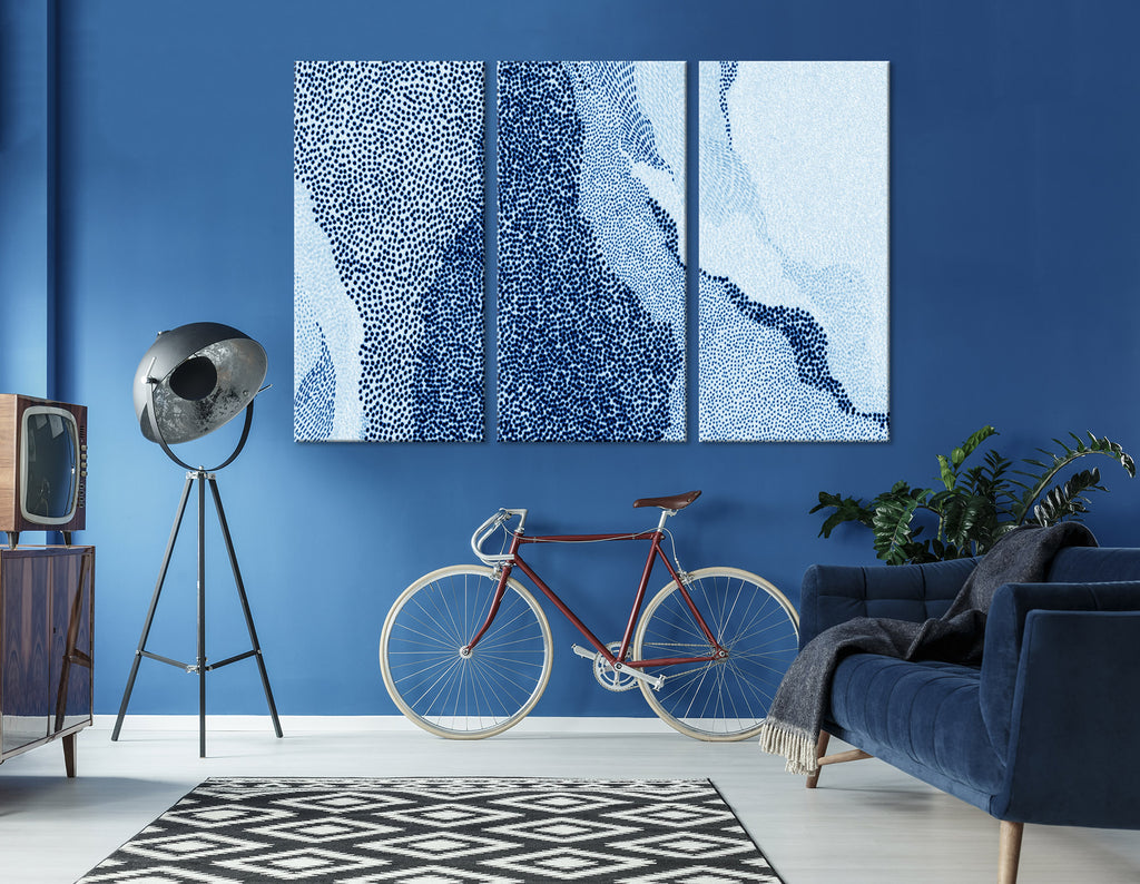 Blue Dots Abstract №04319 Ready to Hang Canvas Print