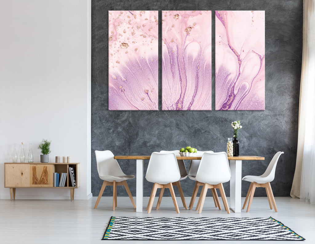 Pink Flower Petals Abstract №04315 Ready to Hang Canvas Print