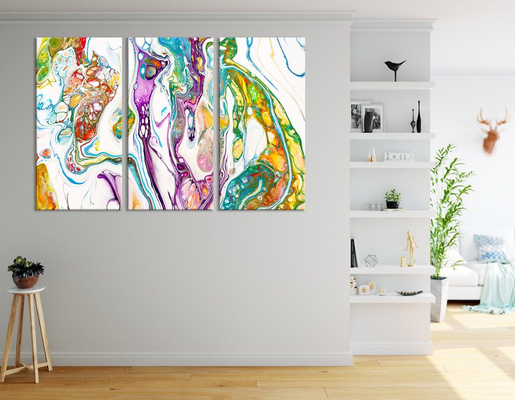 Bright Colorful Abstract №04393 Ready to Hang Canvas Print