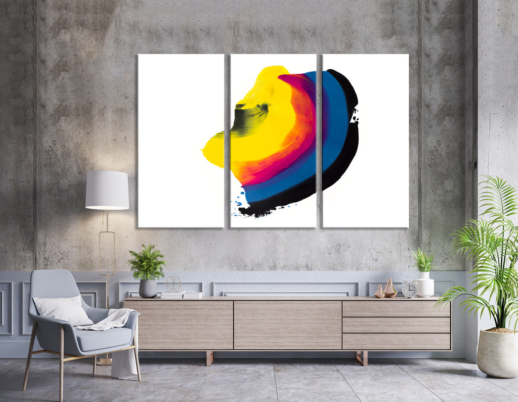 Rainbow Speck Abstract №04411 Ready to Hang Canvas Print