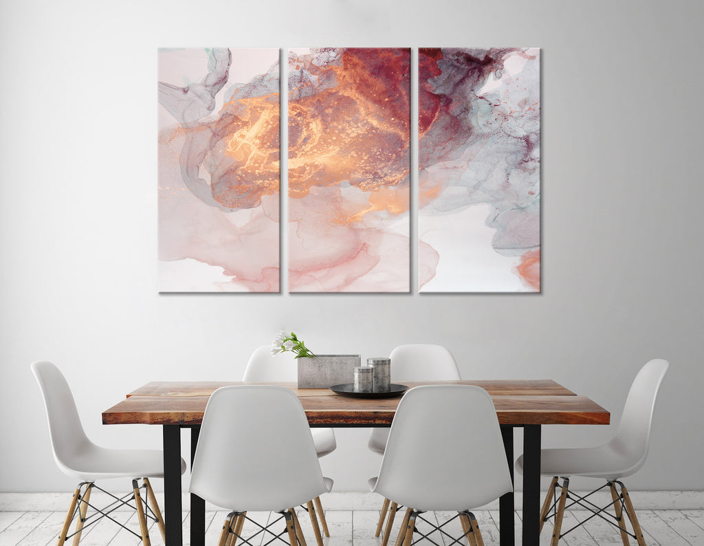 Orange And Gray Abstract №04396 Ready to Hang Canvas Print