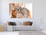 Ginger Octopus Abstract №04272 Ready to Hang Canvas Print