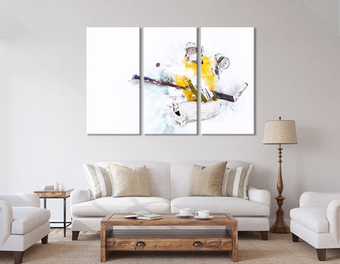 Ice Hockey Goalkeeper In Action №04425  Ready to Hang Canvas Print