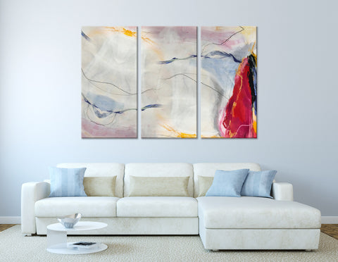 Sail And Seagulls Abstract №04399 Ready to Hang Canvas Print