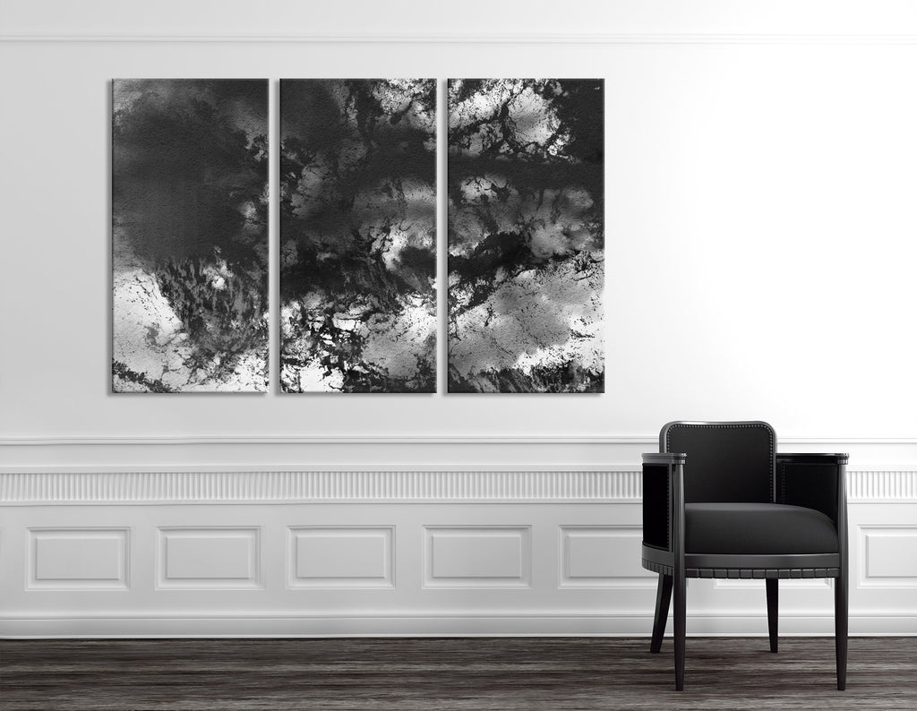 Black And White Abstract №04371 Ready to Hang Canvas Print
