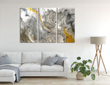 Yellow And Gray Abstract №04381 Ready to Hang Canvas Print