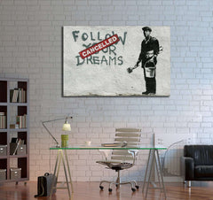 Banksy Chinatown - Ready to Hang Canvas Print