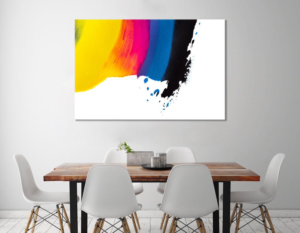 Colors Of Rainbow Abstract №04412 Ready to Hang Canvas Print