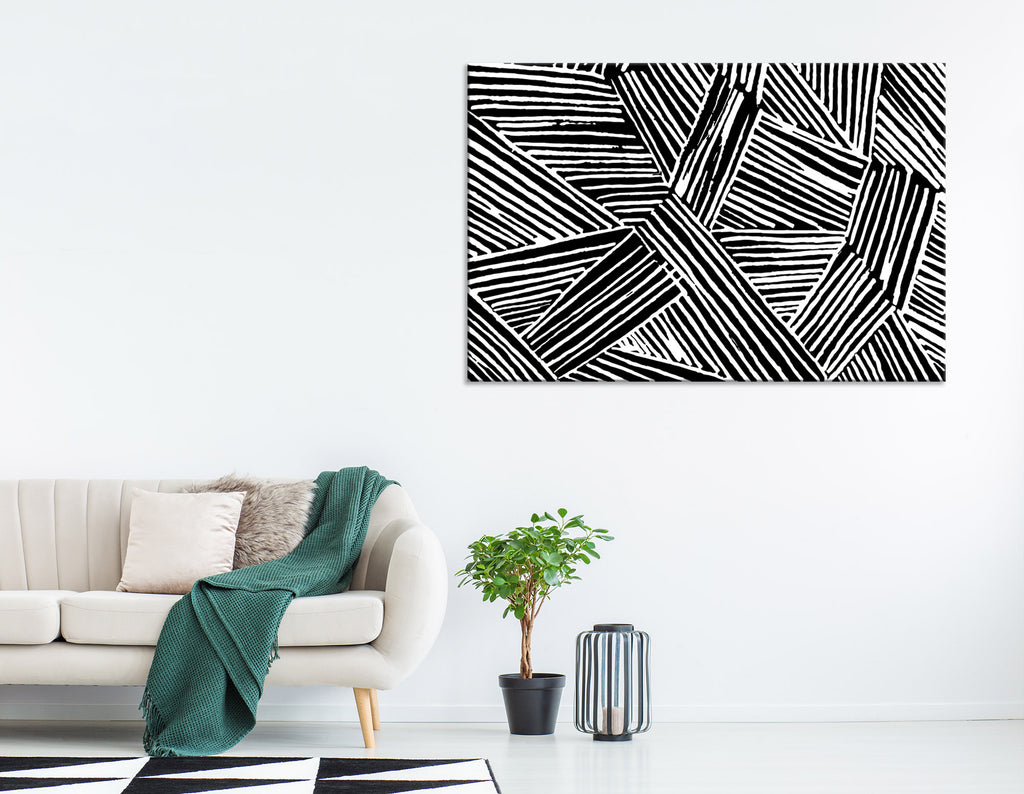 Black And White Abstract №04274 Ready to Hang Canvas Print