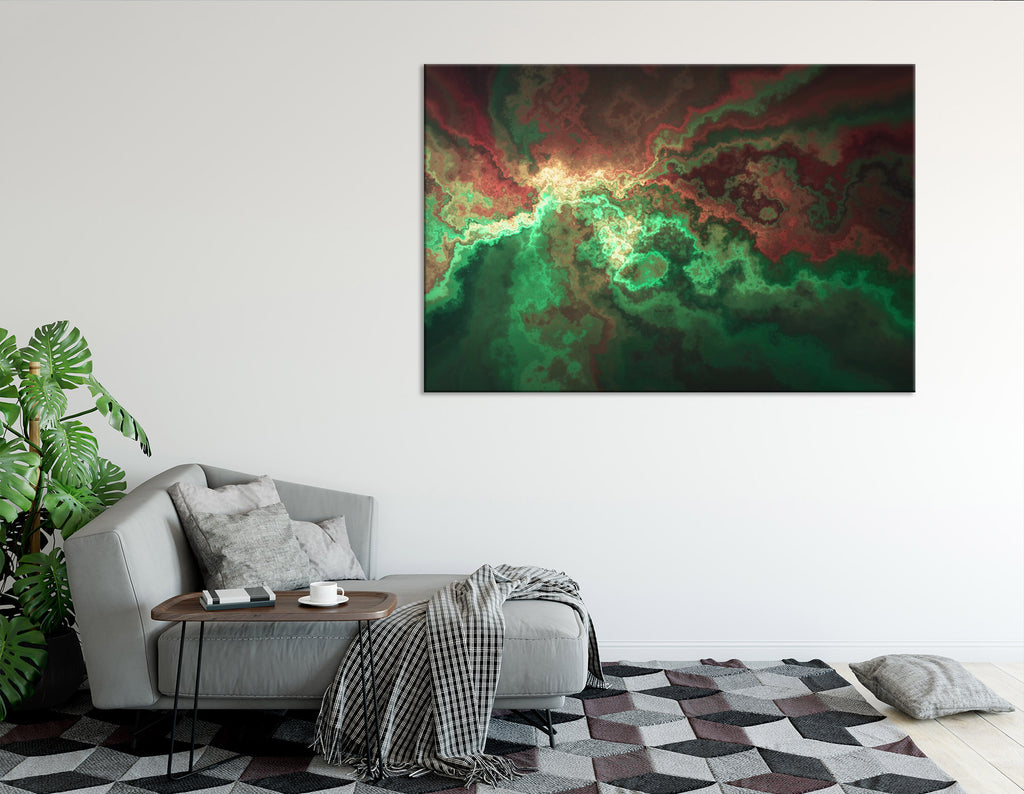 Green And Burgundy Anomaly Abstract №04309 Ready to Hang Canvas Print