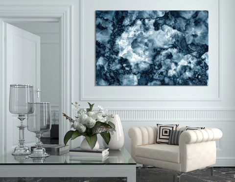 Dark Blue Abstract №04379 Ready to Hang Canvas Print
