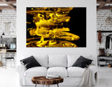 Black And Golden Abstract №04280 Ready to Hang Canvas Print