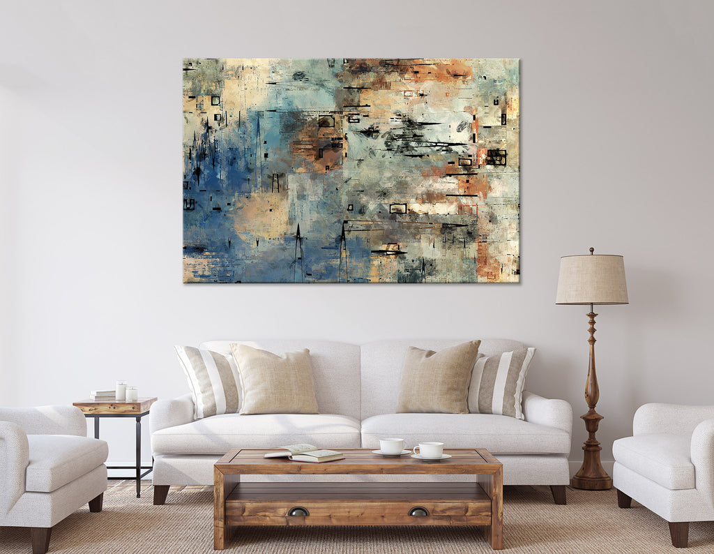 Creative Color Abstract №04338 Ready to Hang Canvas Print