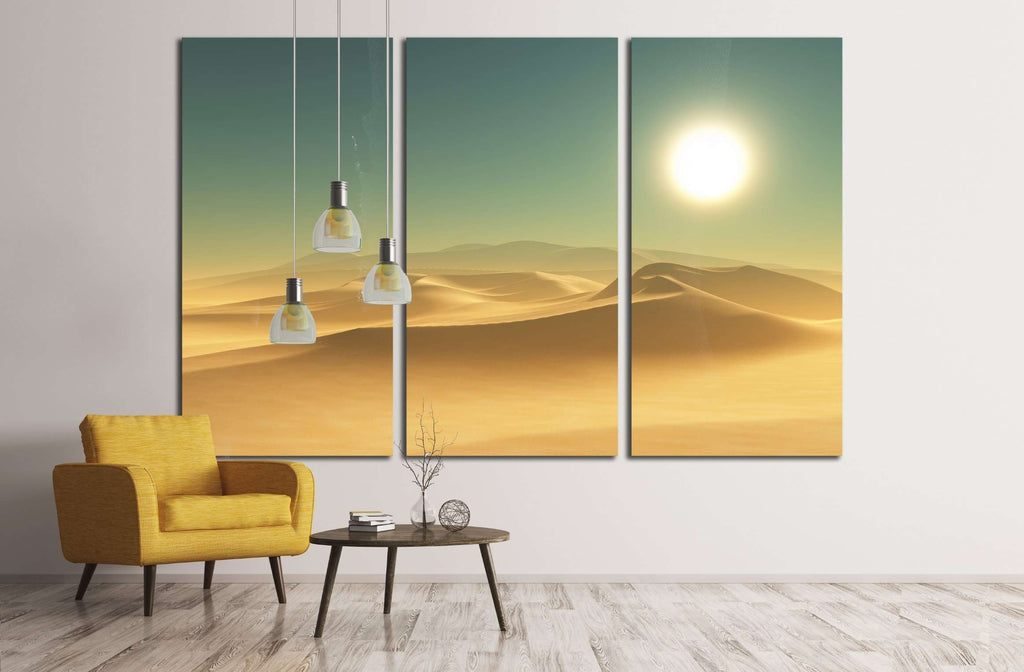 3D render of a desert scene №3127 Ready to Hang Canvas Print