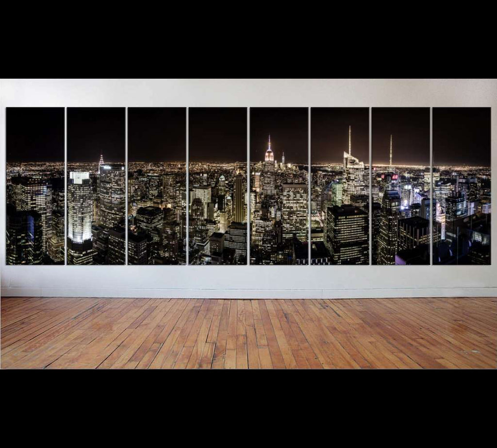 8 panel New York Ready to Hang Canvas Print XXLarge №38 Ready to Hang Canvas Print