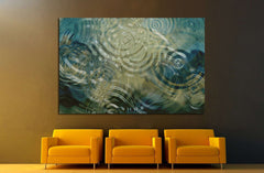 A beautiful close up of ripples on a pond №1397 - canvas print wall art by Zellart