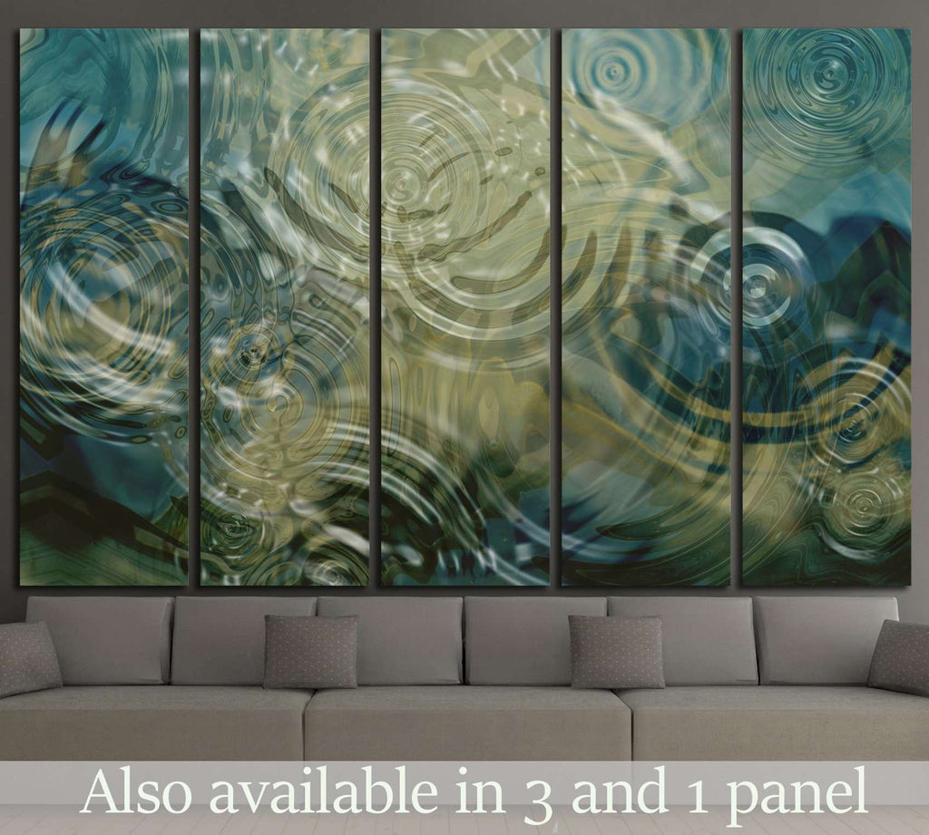 A beautiful close up of ripples on a pond №1397 Ready to Hang Canvas Print