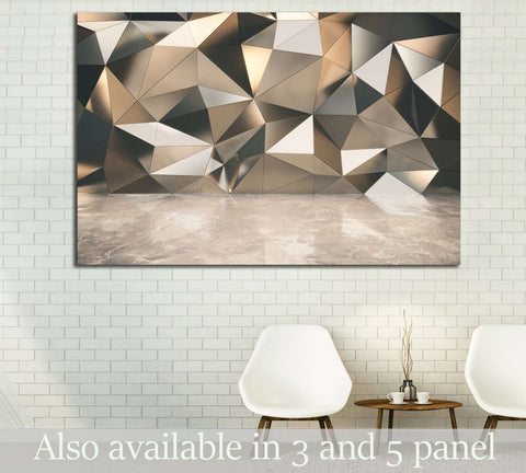 Abstact exterior with concrete floor №1602 - canvas print wall art by Zellart