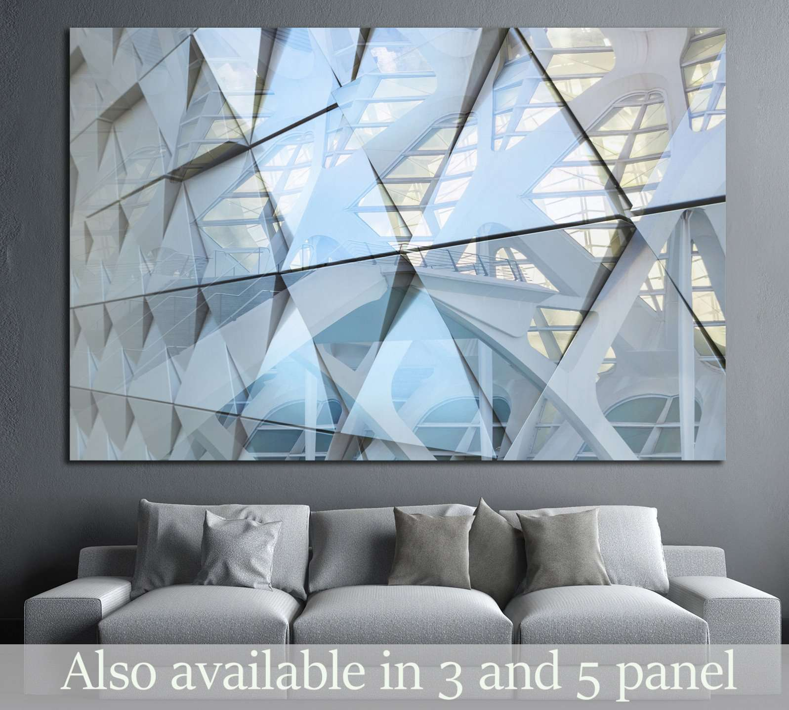 Abstract architectural detail №1601 - canvas print wall art by Zellart