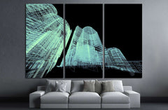 Abstract architecture 3D illustration №1579 Ready to Hang Canvas Print
