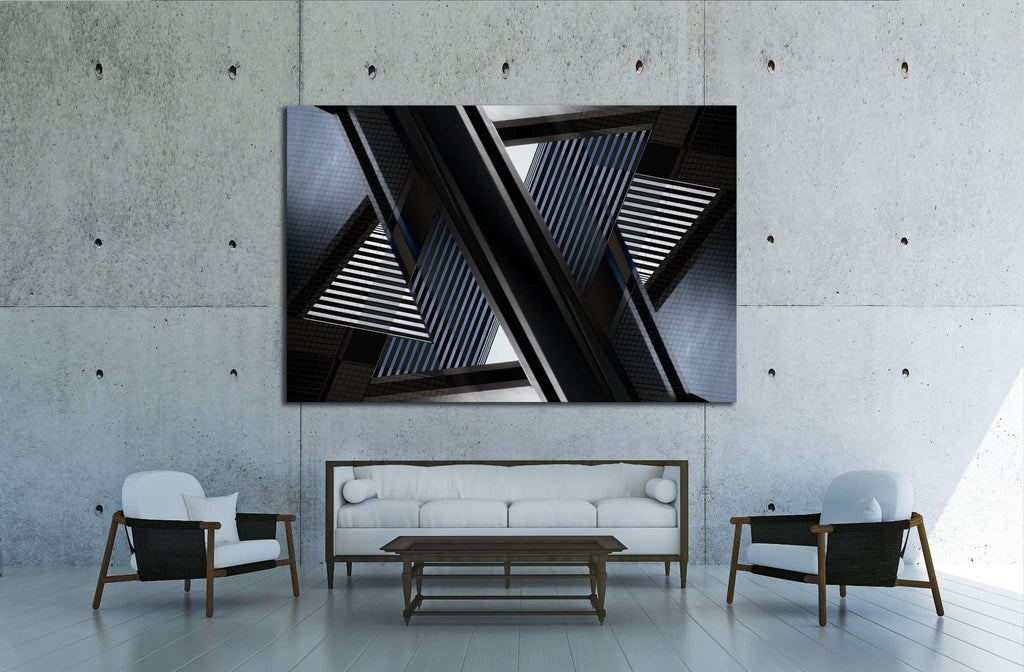 abstract architecture fragment №1599 Ready to Hang Canvas Print