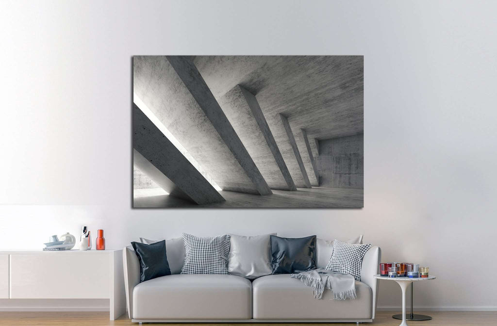 Abstract architecture  №1083 - canvas print wall art by Zellart