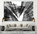 Abstract architecture №1582 - canvas print wall art by Zellart