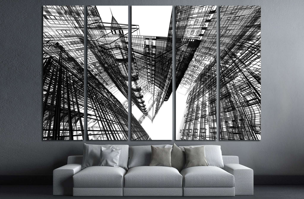 Abstract architecture №1582 Ready to Hang Canvas Print