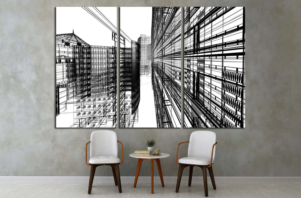 Abstract architecture №1583 Ready to Hang Canvas Print