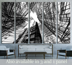 Abstract architecture №1584 Ready to Hang Canvas Print