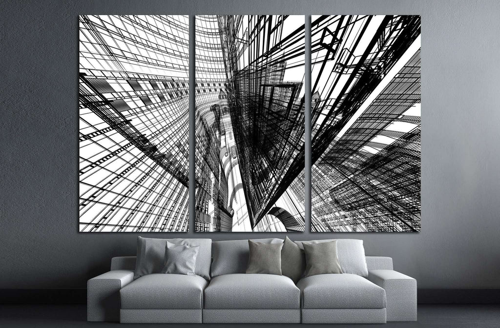 Abstract architecture №1585 Ready to Hang Canvas Print