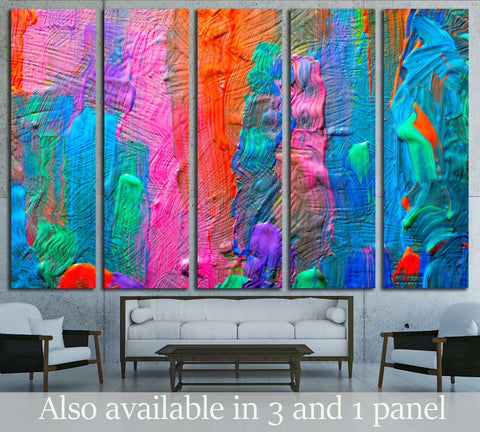 Abstract art background. Hand-painted background. SELF MADE №2881 Ready to Hang Canvas Print