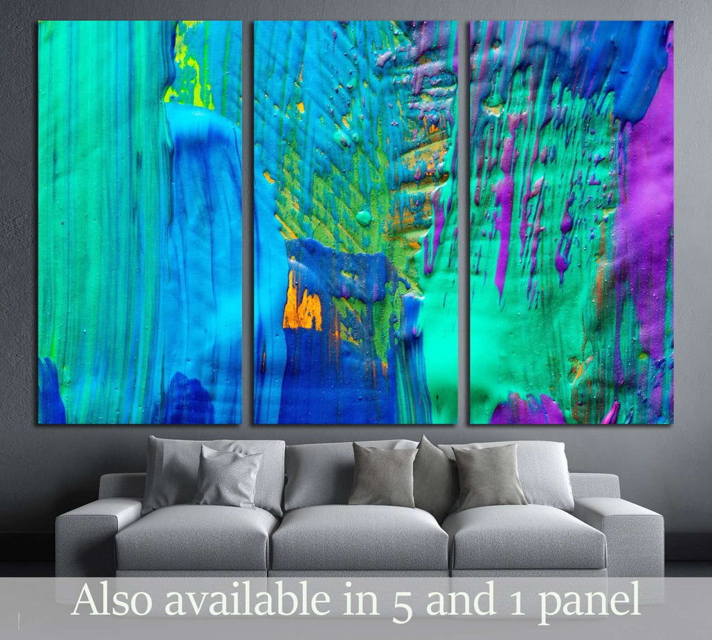 Abstract art background. Hand-painted background. SELF MADE №2882 Ready to Hang Canvas Print