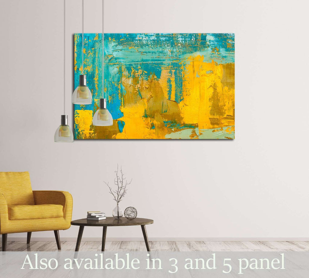 Abstract art background. Oil painting on canvas №3227 Framed Canvas ...