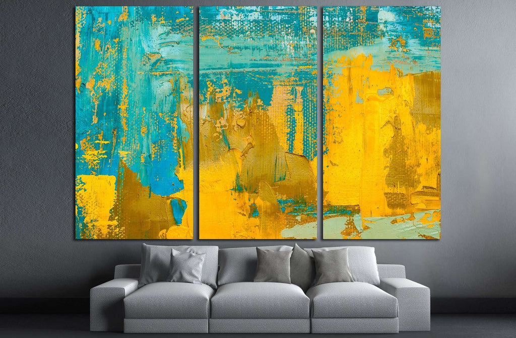 Abstract art background. Oil painting on canvas №3227 Ready to Hang ...