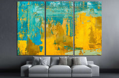 Abstract art background. Oil painting on canvas №3227 Ready to Hang Canvas Print