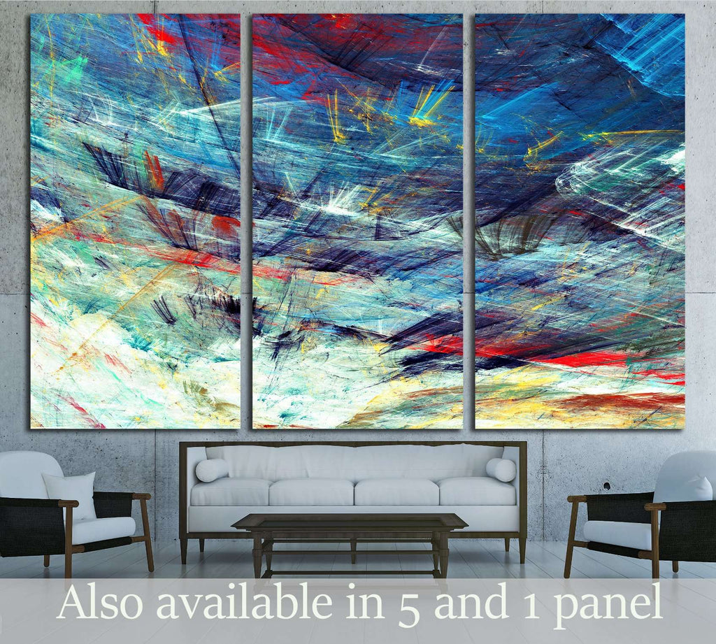 Abstract beautiful blue and white soft color winter background №2894 Ready to Hang Canvas Print