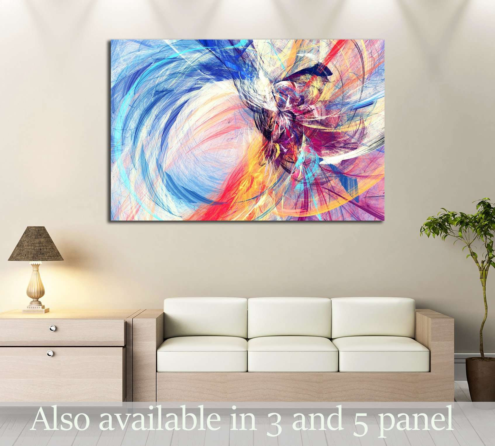 Abstract beautiful multicolor bright artistic background №2887 Ready to Hang Canvas Print