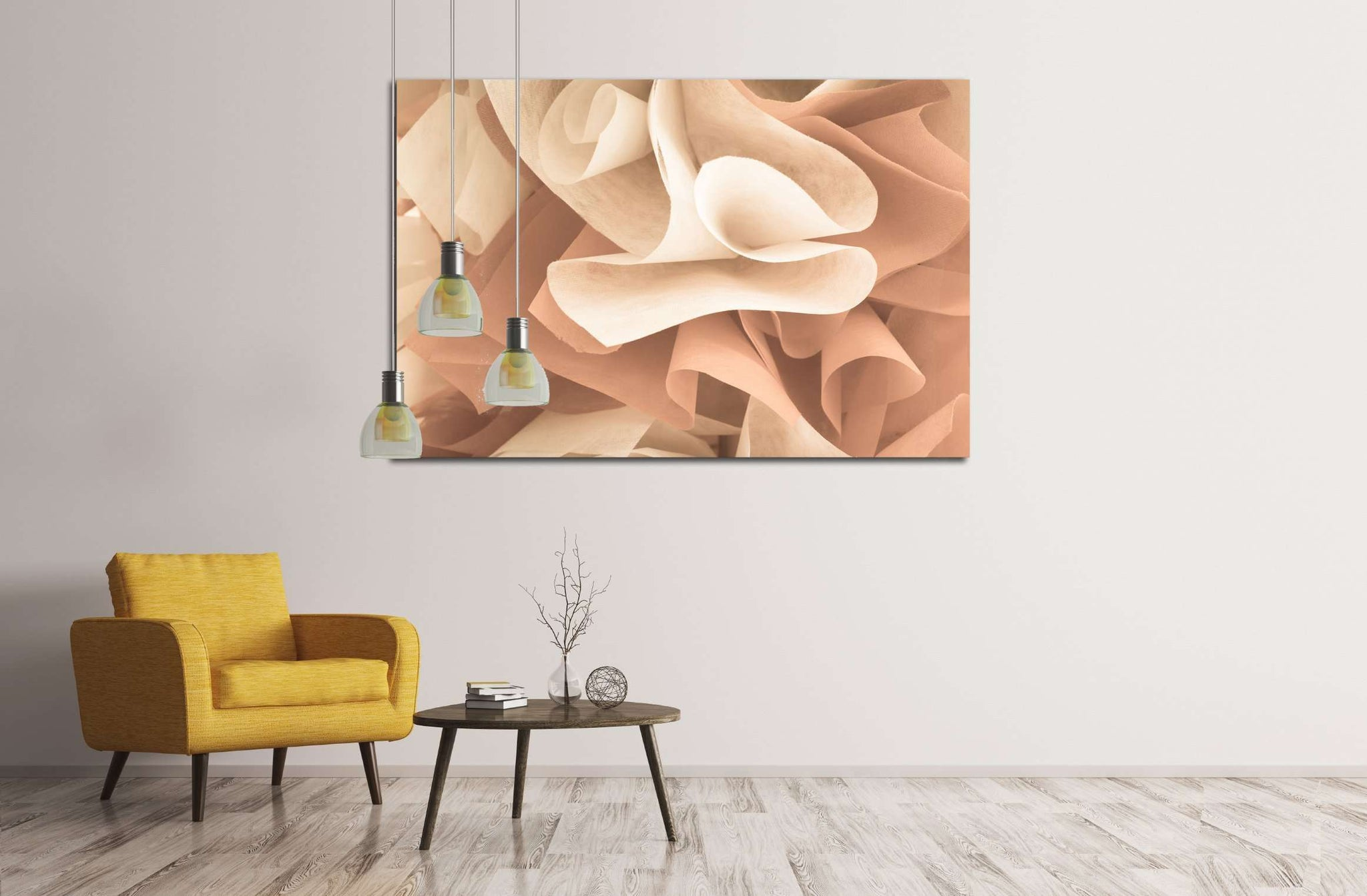 abstract beautiful rose gold color №2893 Ready to Hang Canvas Print